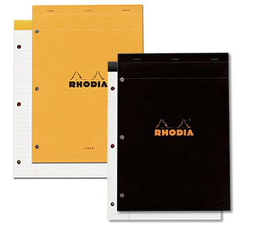 Rhodia Top-Stapled 3 Holes Punched N°18 Pad