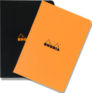 A4 Large Size Side-Stapled Pads - Available in orange or black